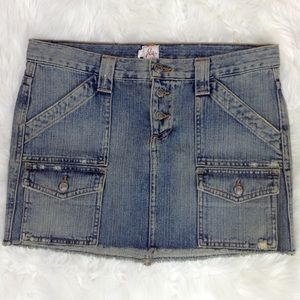 Joie Button Fly Jean Mini Skirt Size 6